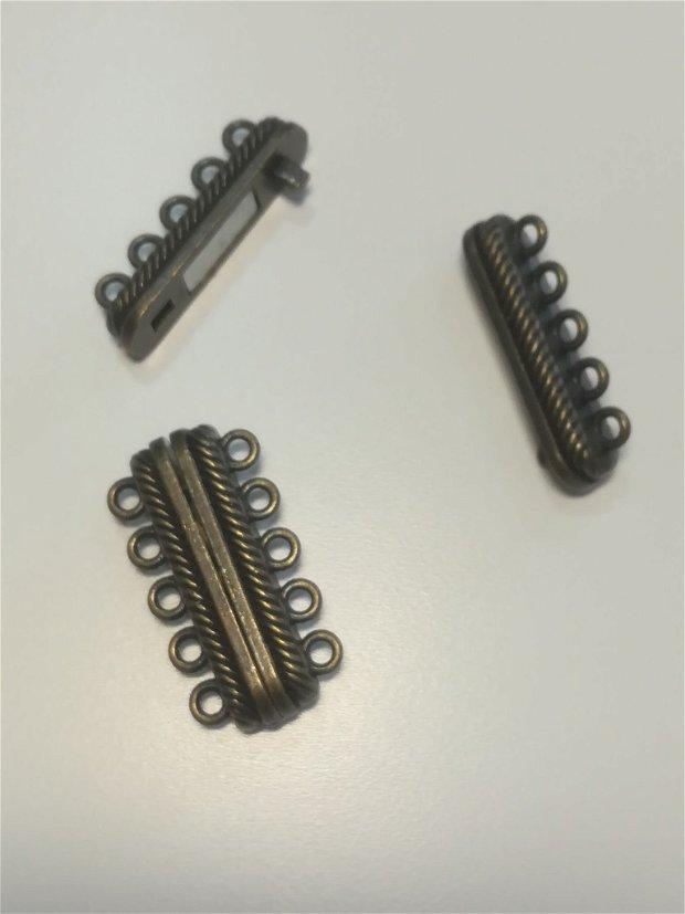 Inchizatoare magnet, multisir, bronz, 28x15 - 1buc