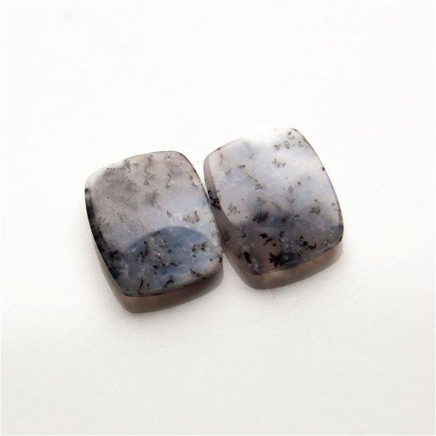 Pereche opal dendritic - cabochoane - OPL8