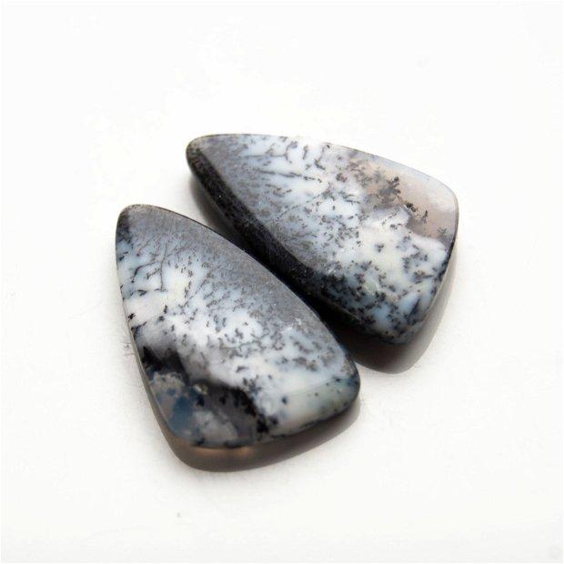 Pereche opal dendritic - cabochoane - OPL10