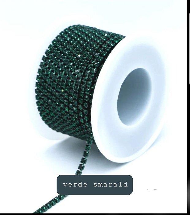 9m Șnur metalic cu ștrasuri