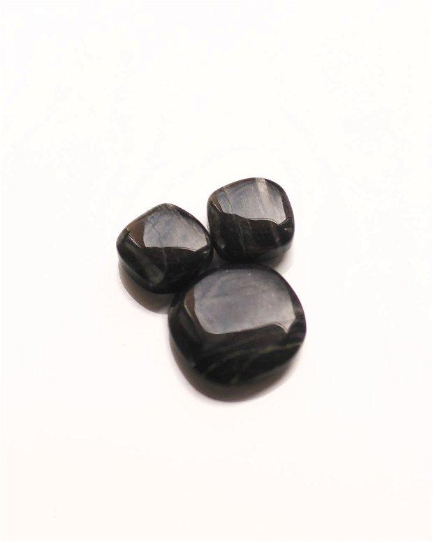 Pereche Quartz fumuriu - D359  - pentru cercei  si pandantiv/ inel