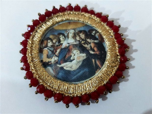 Brosa sau colier.Madona cu rodia.Botticelli