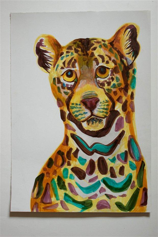 Tablou cu Leopard