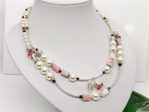 Set/colier si cercei /opal so perle swarovski