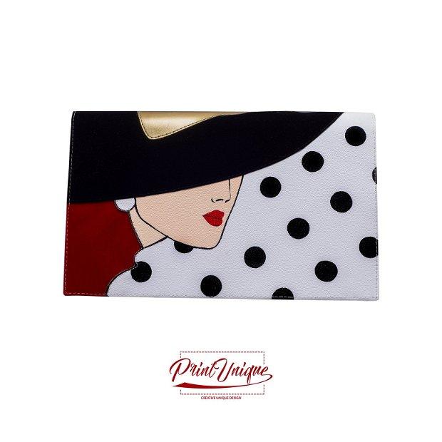 "Poseta plic ""Chapeau Noire"""