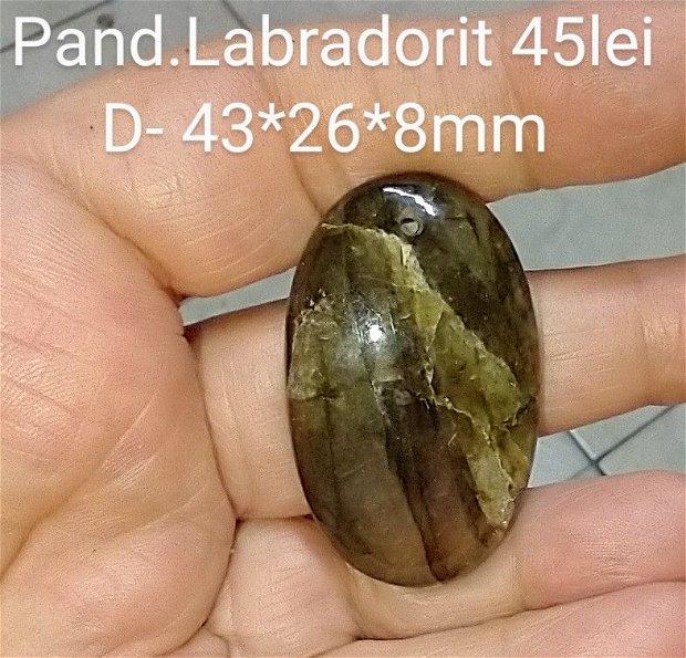 Labradorit natural, pandantiv mare,