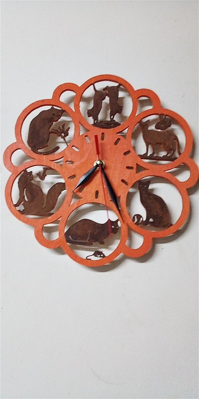 ceas de perete -Pisici