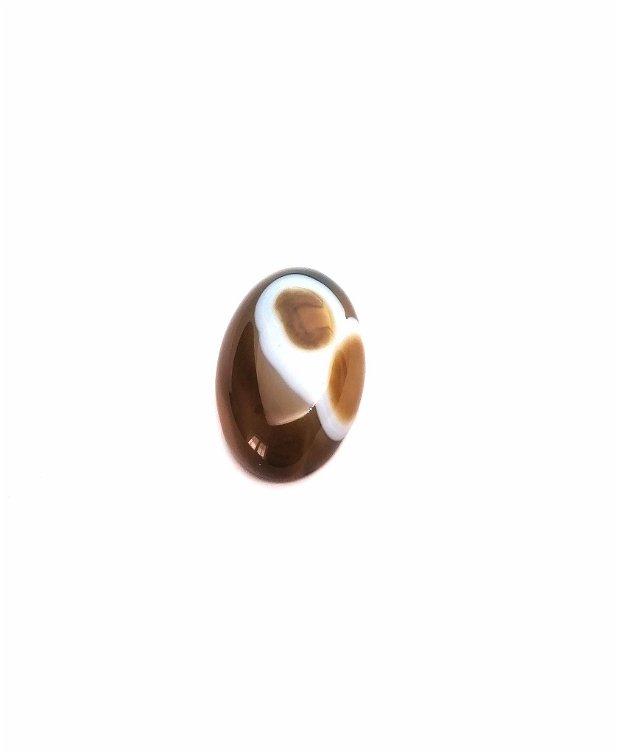 Caboson oval #10 agata 30mm choco