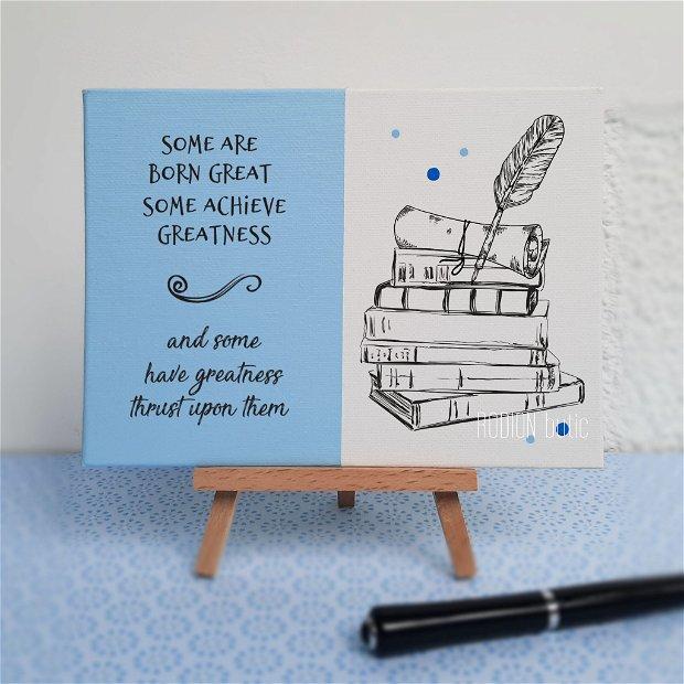 Placuta absolvire engleza pictata personalizata cu mesaj