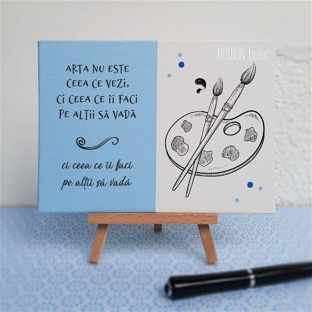 Placuta absolvire arte plastice pictata personalizata cu mesaj