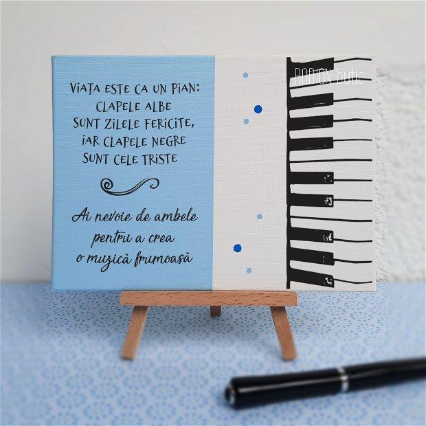 Placuta absolvire muzica pictata personalizata cu mesaj
