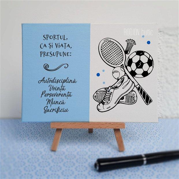 Placuta absolvire sport pictata personalizata cu mesaj