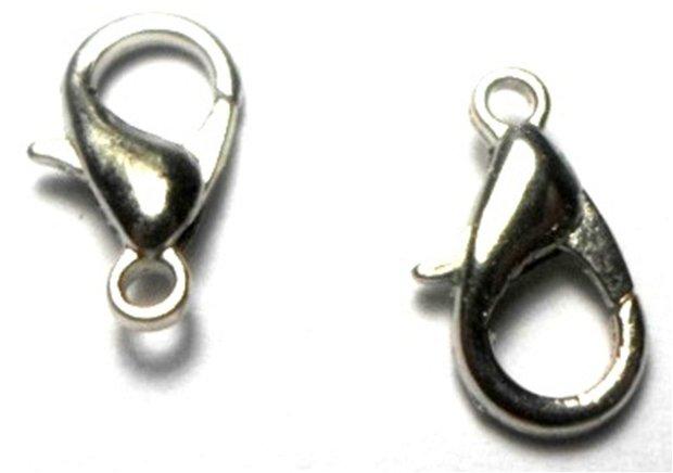 Inchizatoare lobster argintiu inchis 12 mm