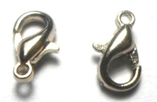 Inchizatoare lobster argintiu inchis 10 mm