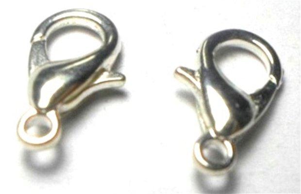 Inchizatoare lobster argintiu deschis 12 mm