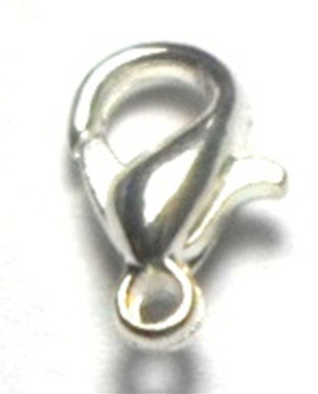Inchizatoare lobster argintiu deschis 10 mm