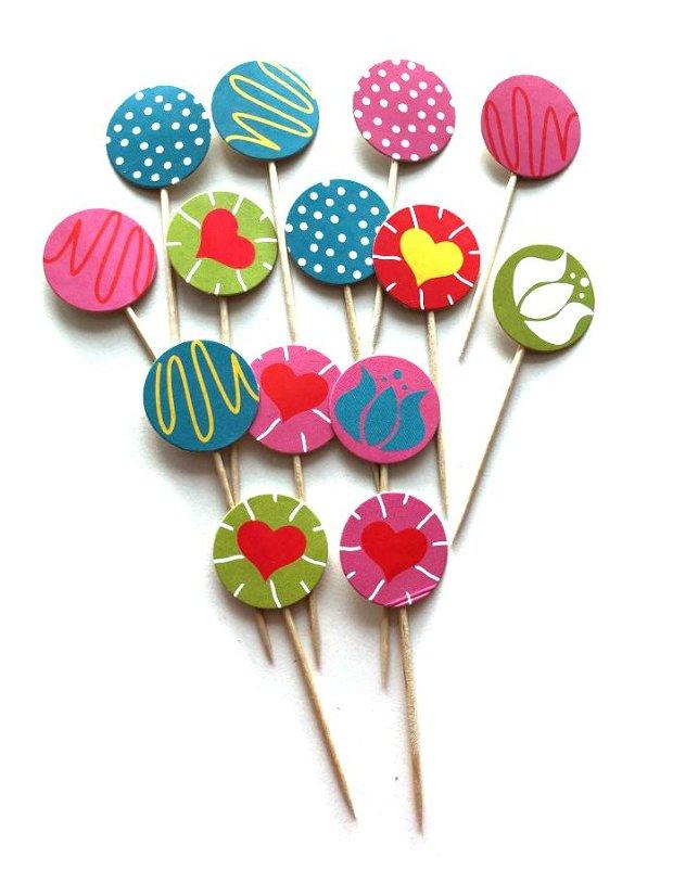 Toppers briose / Cake toppers/ Decoratiuni petrecere
