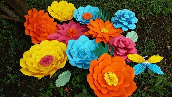 Flori mari decor
