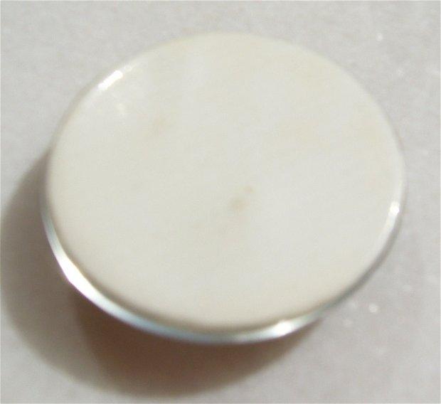 Camee rotunda mare din portelan / sticla (provenienta America) aprox 37.5x9 mm