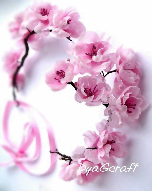Coronita mireasa flori de cires