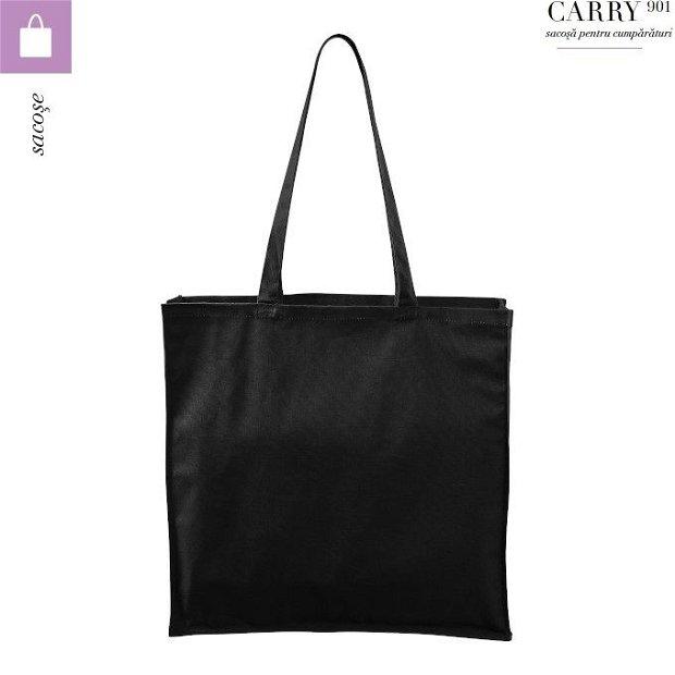 Sacosa neagra unisex pentru cumparaturi, Carry