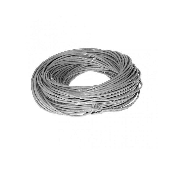 Snur piele, gri 2mm (1metru)  DVLAK-T 041