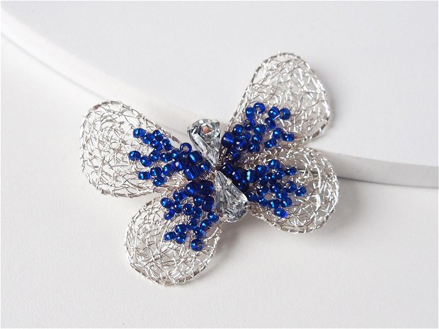 Brosa Fluture mic si albastru