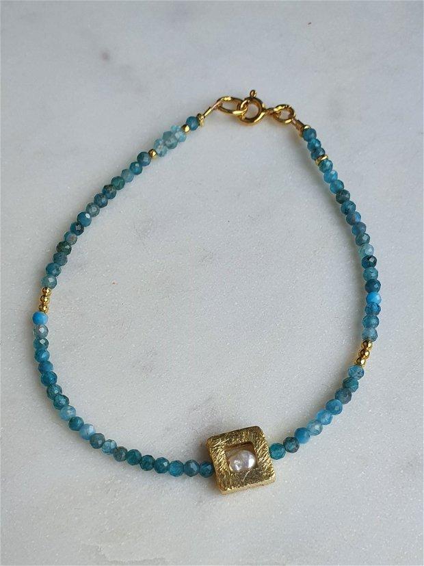 Brățară Apatit&Perlă