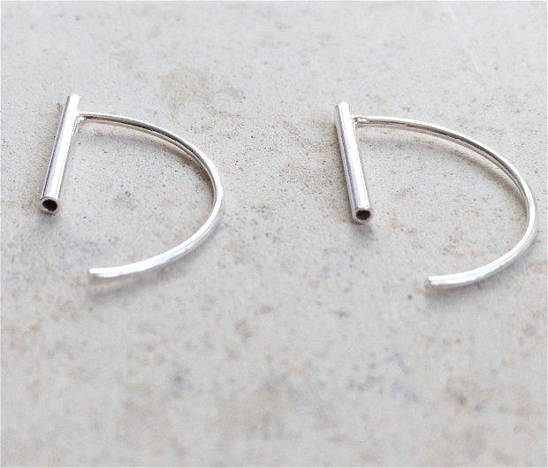 Cercei minimalisti tubes threaders