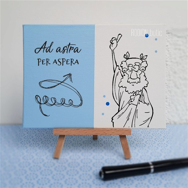 Placuta absolvire latina pictata personalizata cu mesaj