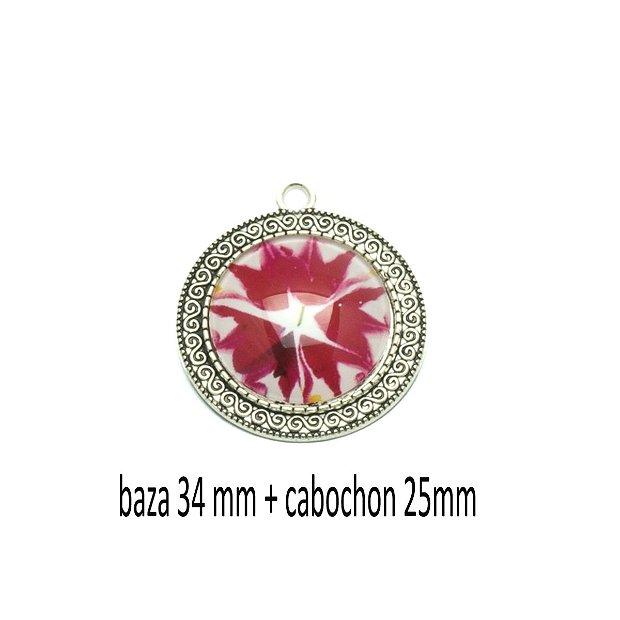Kit pandant cu cabochon print, KB418
