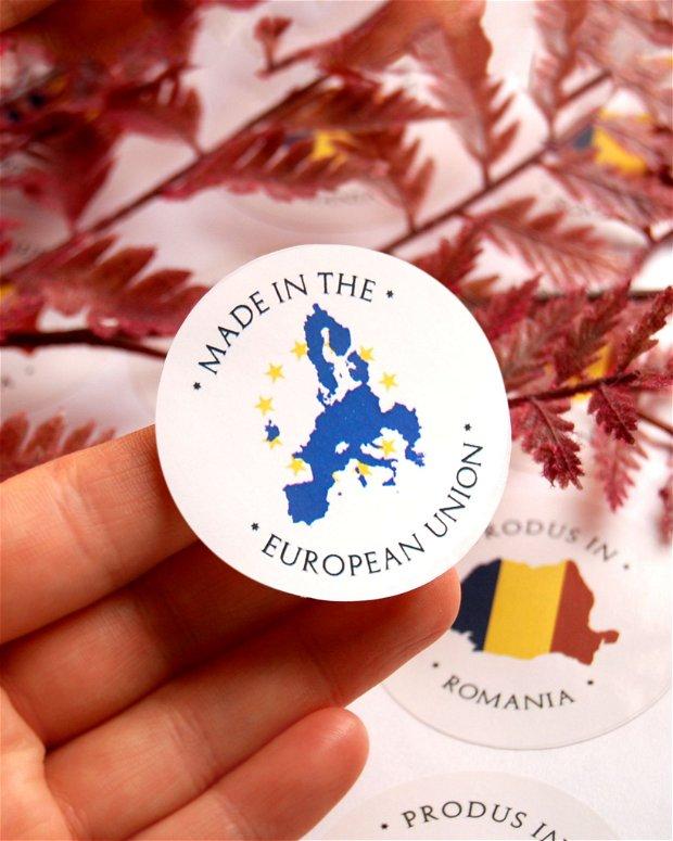 "Stickere "" Made in the  European Union""  - set 10 buc"