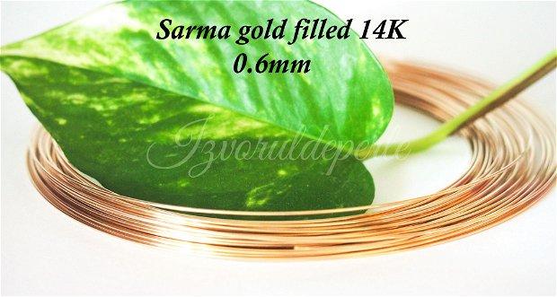 Sarma gold filled 14K, 0.6mm (0.5)