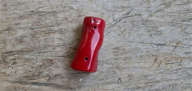 Coral rosu, pandantiv  31x14x11 mm