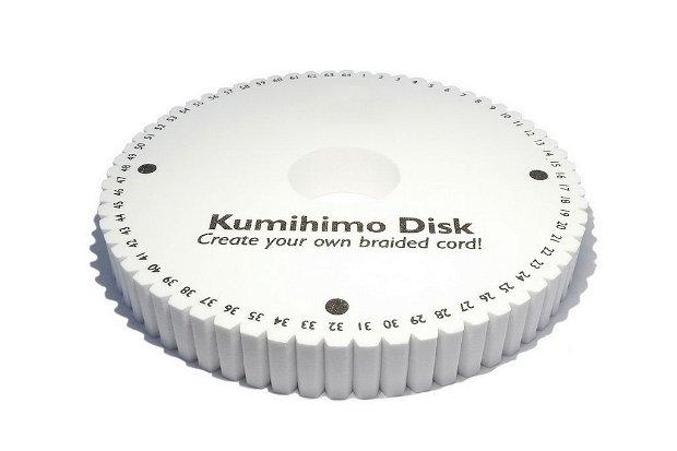 Disc Kumihimo, rotund, 15x2 cm, 64 de sloturi