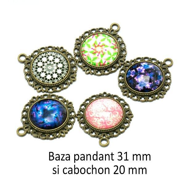 Kit pandant si cabochon print, KB420