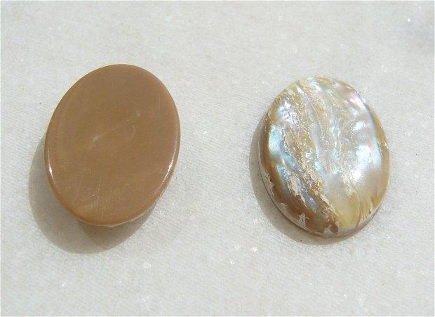 Cabochon acril - imitatie sidef - aprox 24.7-24.8x17.5x5 mm