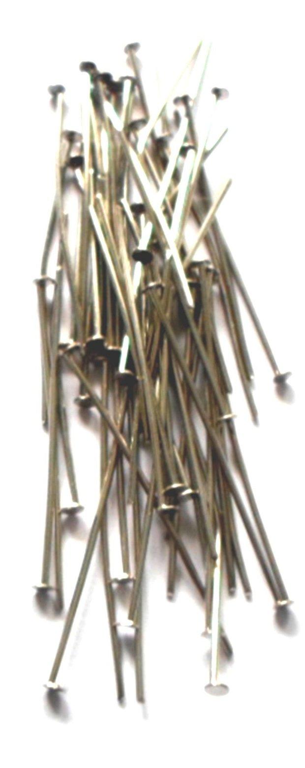 Ace cu cap plat argintiu inchis 26 mm
