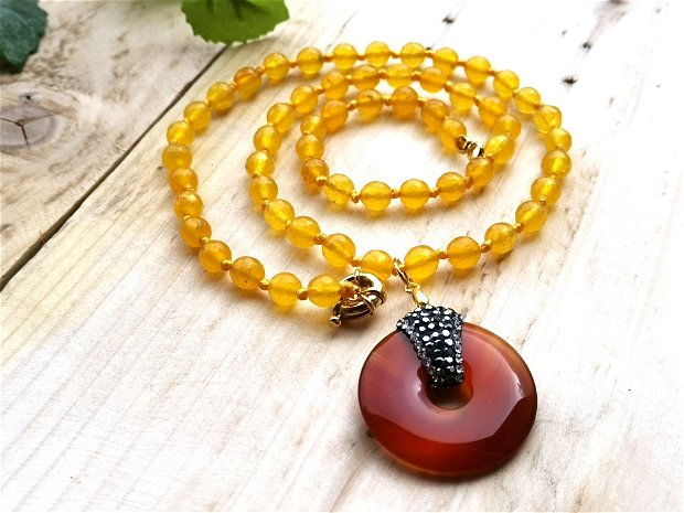 Colier yellow topaz