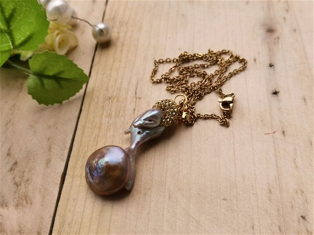 Colier perla biwa