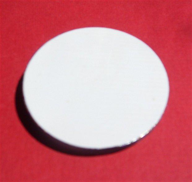 Cabochon rotund mare din sticla gravata / portelan (provenienta America) aprox 44x7.5 mm