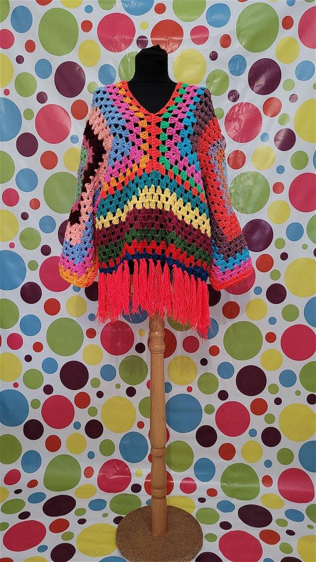 Pulover super colorat, puloverul happy