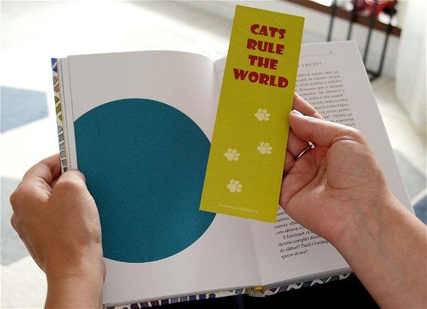 """Semn de carte """"50 shades of cats"""""""