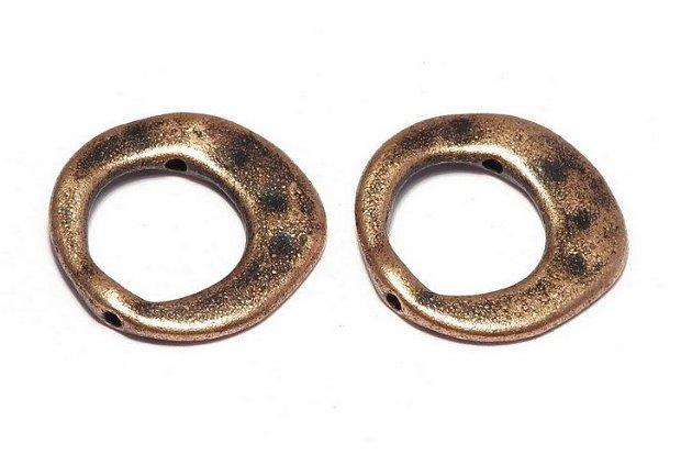 Link metalic, cupru, 20.5 mm