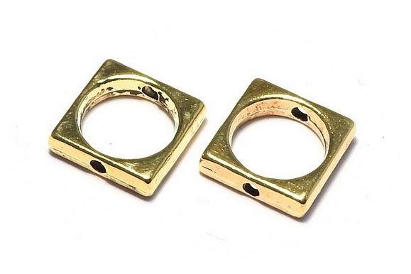 Link metalic, auriu antichizat, 11x11 mm