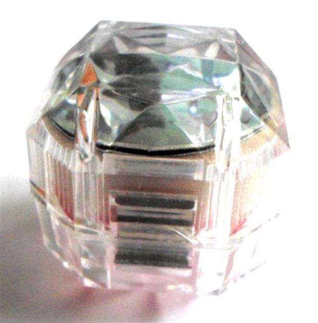 Cutie bijuterii cadou pentru inel alb transparent