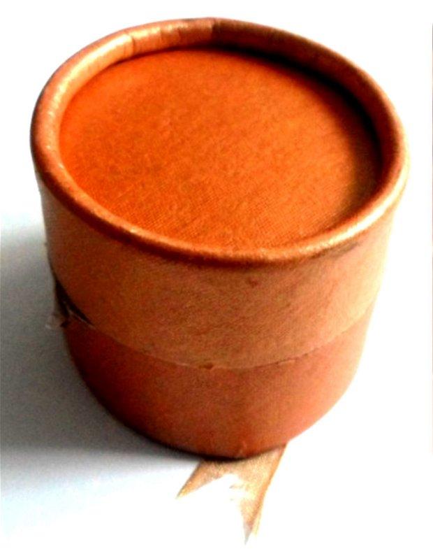 Cutie bijuterii cadou inel oval maro cu fundita maro