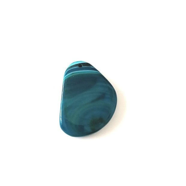 Pandantiv masiv triunghi #9 agata 53x37mm albastru