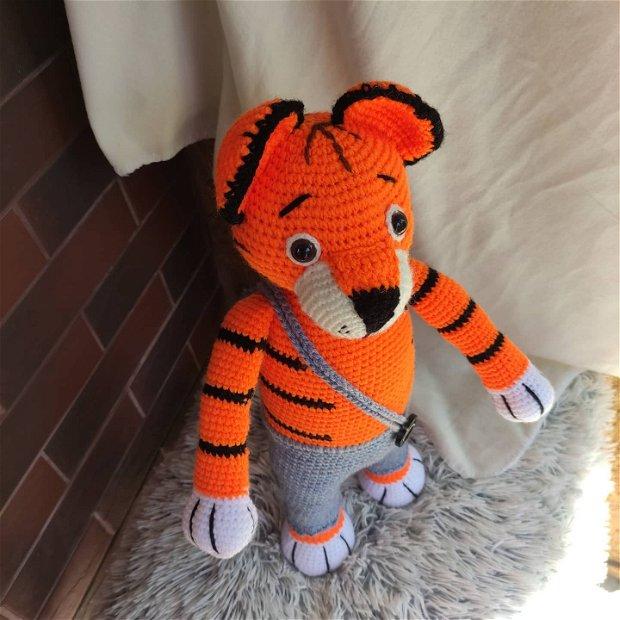 Jucărie croșetată Tigruț