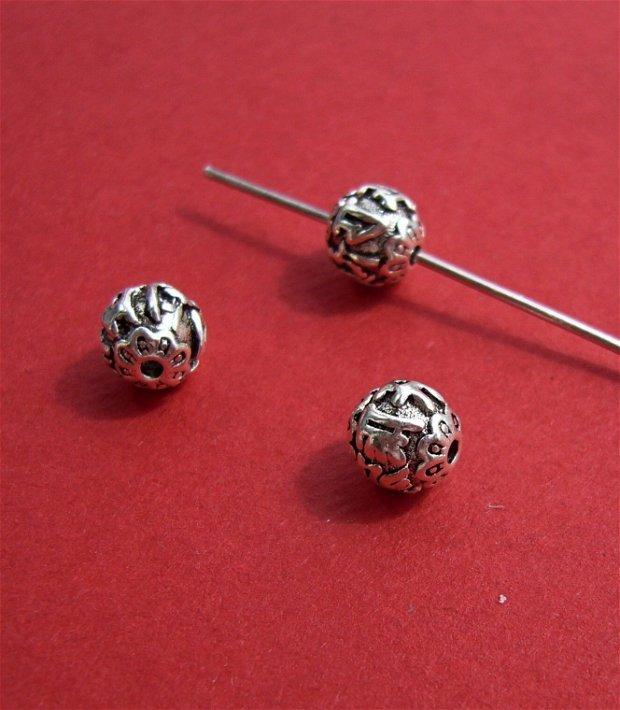 Margica tip Bali din argint .925 aprox 7.5x7.5 mm